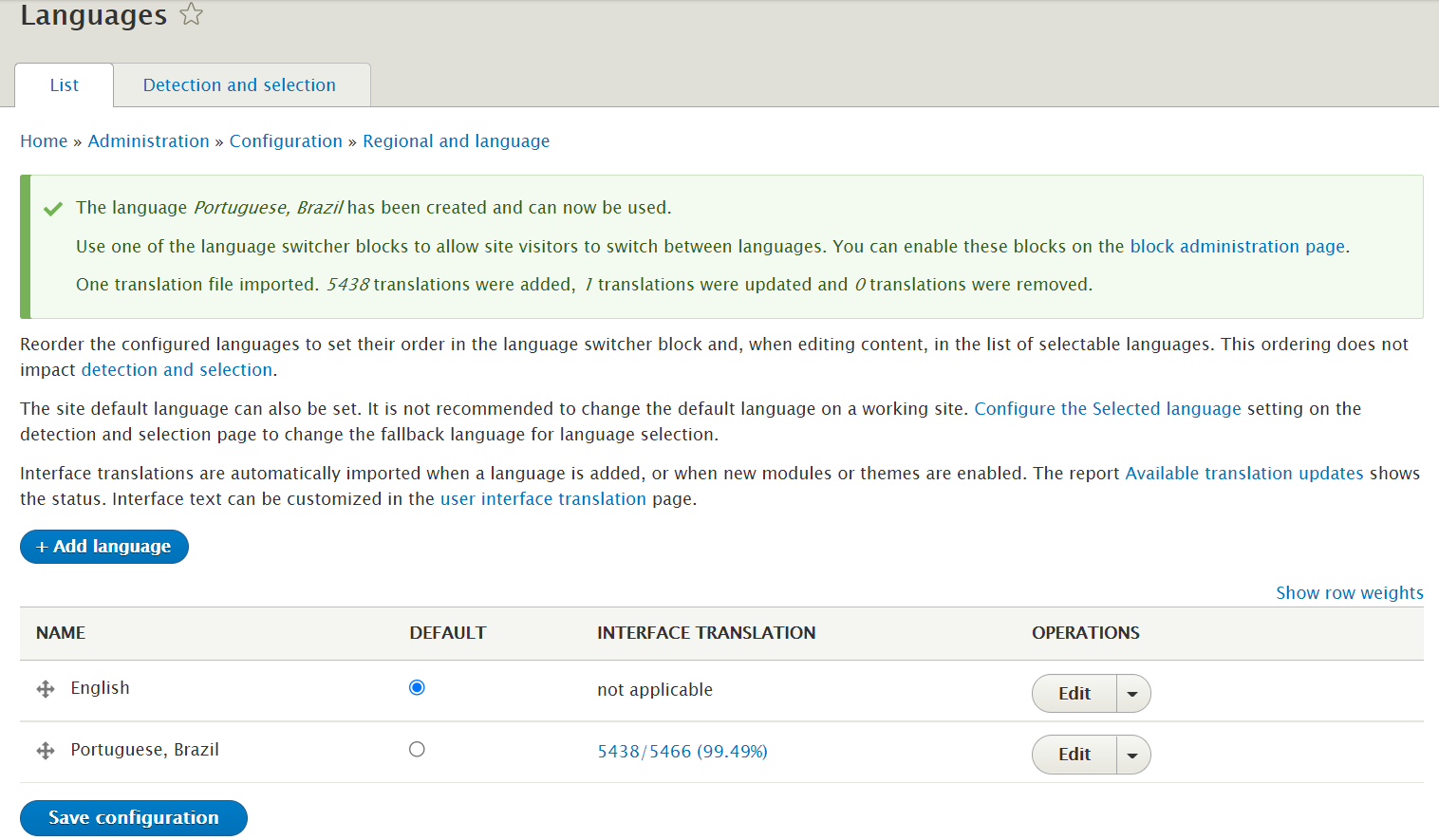 view and edit the translation strings